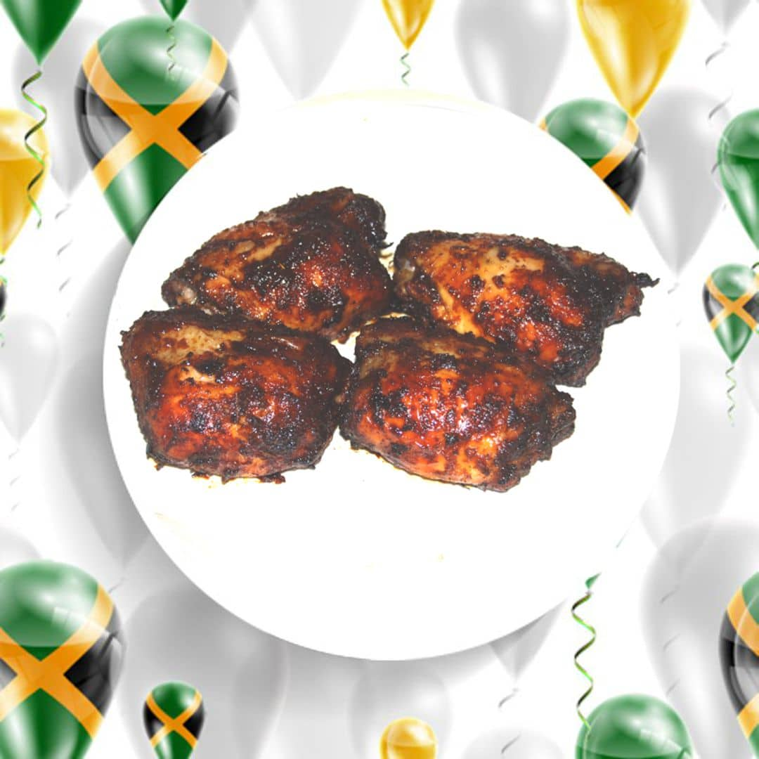 cariblendjamaican jerk chicken thighs  cariblend